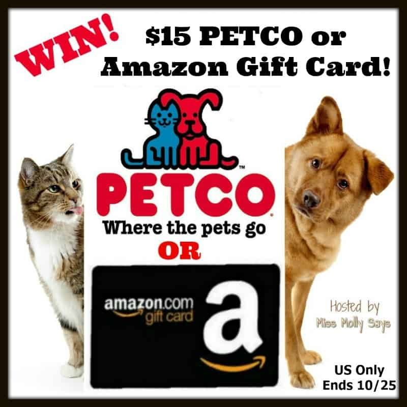 Win a $15 PETCO or Amazon Gift Card! #Halloween2017 US Only Ends 10/25
