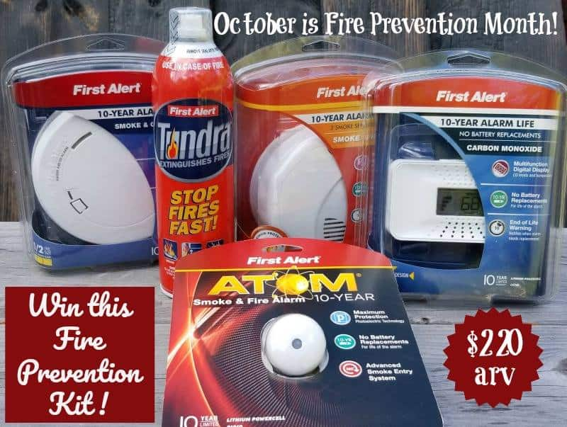 Fire Prevention Month giveaway button