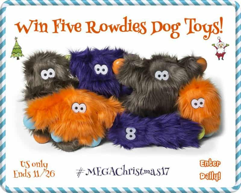 Win FIVE Rowdies Dog toys of your choice! US Only Ends 11/26