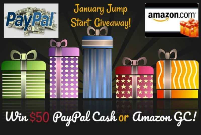 Win $50 Paypal or Amazon! Open WW Ends 1/15