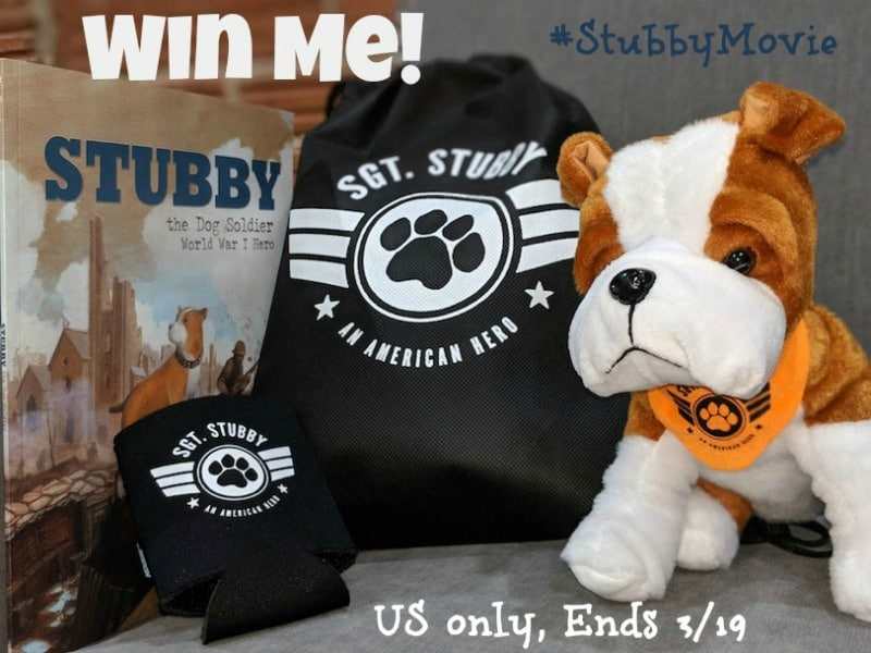 Win Sgt Stubby: An American Hero Prize Pack (arv $50)! #StubbyMovie US Only Ends 3/19