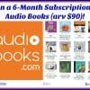 Win 6 month Subscription to AudioBooks.com (arv $90)!