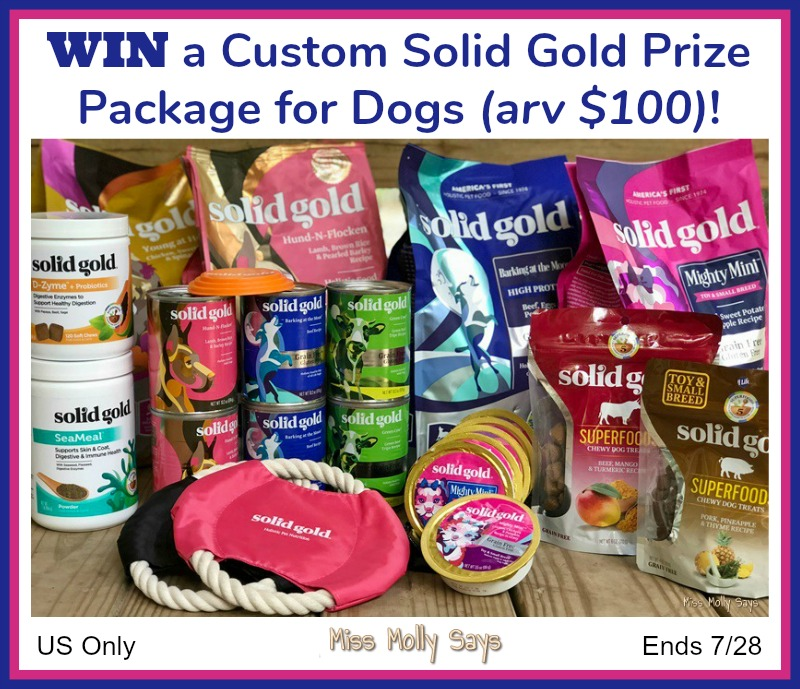 Custom Solid Gold Prize Package for Dogs Giveaway