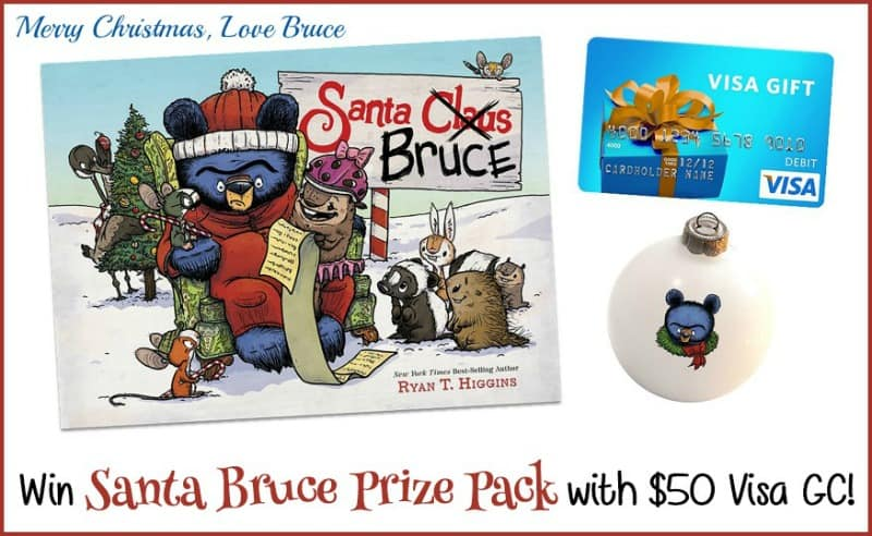 Win a $50 Visa Gift Card and a Santa Bruce Book and Ornament! #SantaBruceBook US Only Ends 9/30
