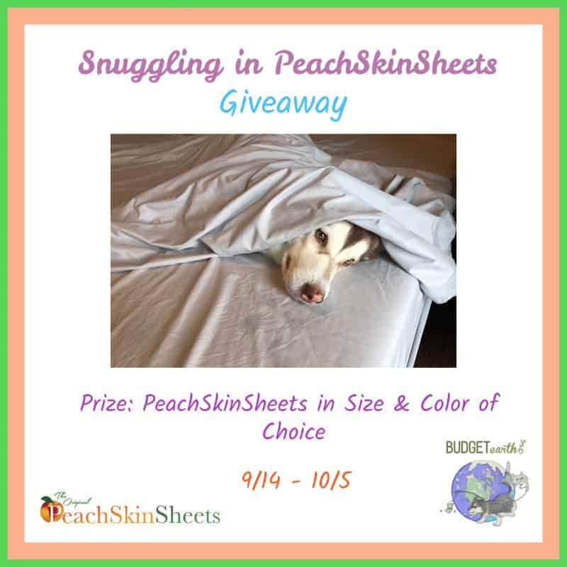 Win PeachSkinSheets Sheet Set in Choice of Size & Color! US Only Ends 10/5