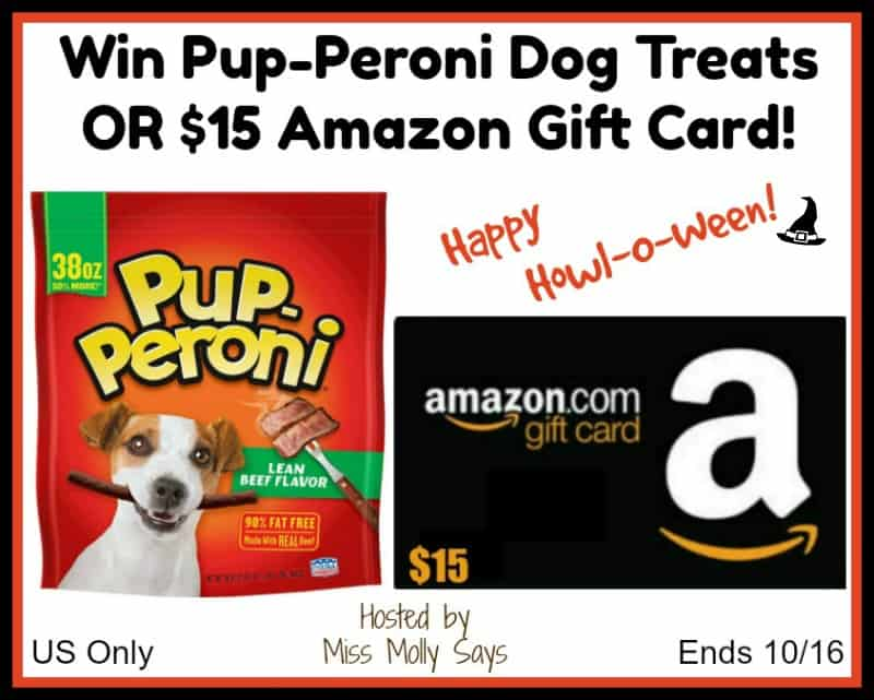 Pup-Peroni or $15 Amazon Gift Card Giveaway
