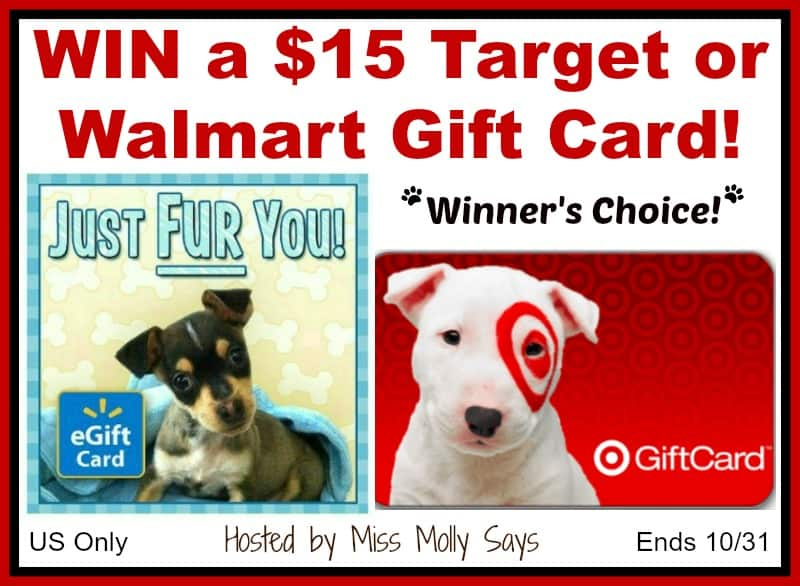 $15 Target or Walmart Gift Card Giveaway button