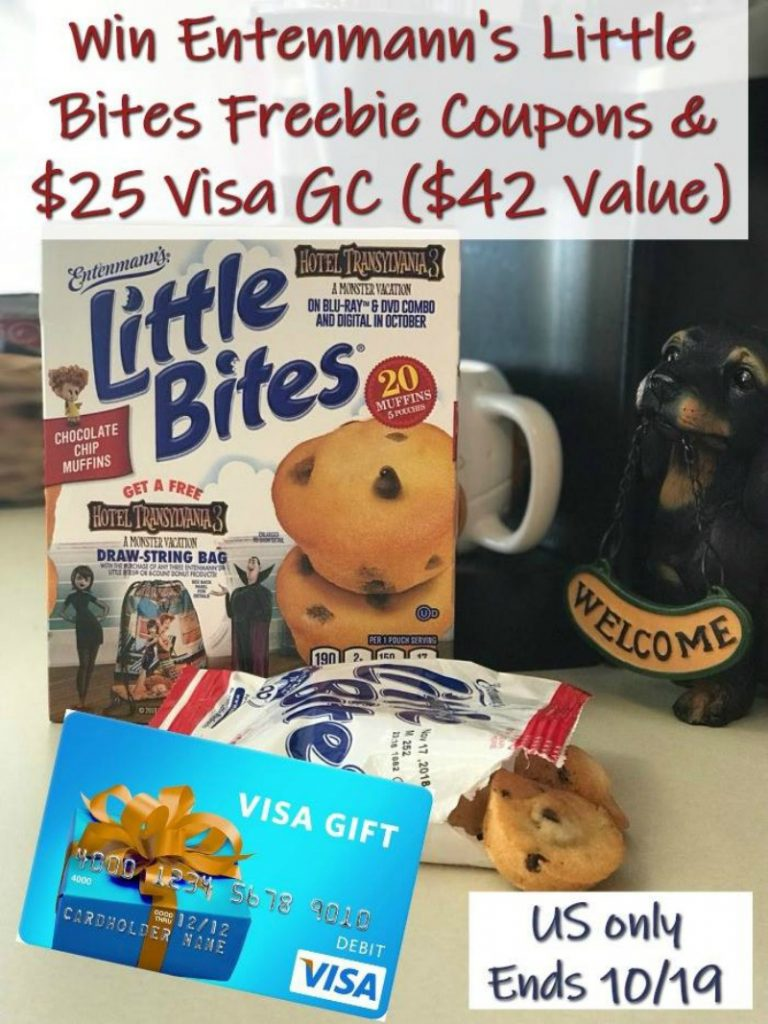 Win $25 Visa Gift Card and 3 Freebie Entenmann's Coupons! US Only Ends 10/19