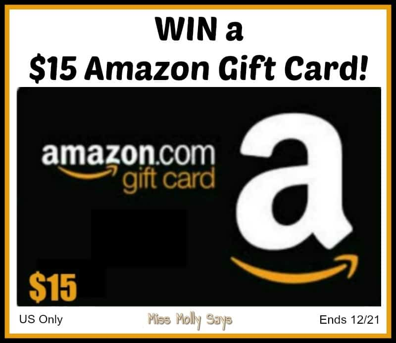 $15 Amazon Gift Card Giveaway