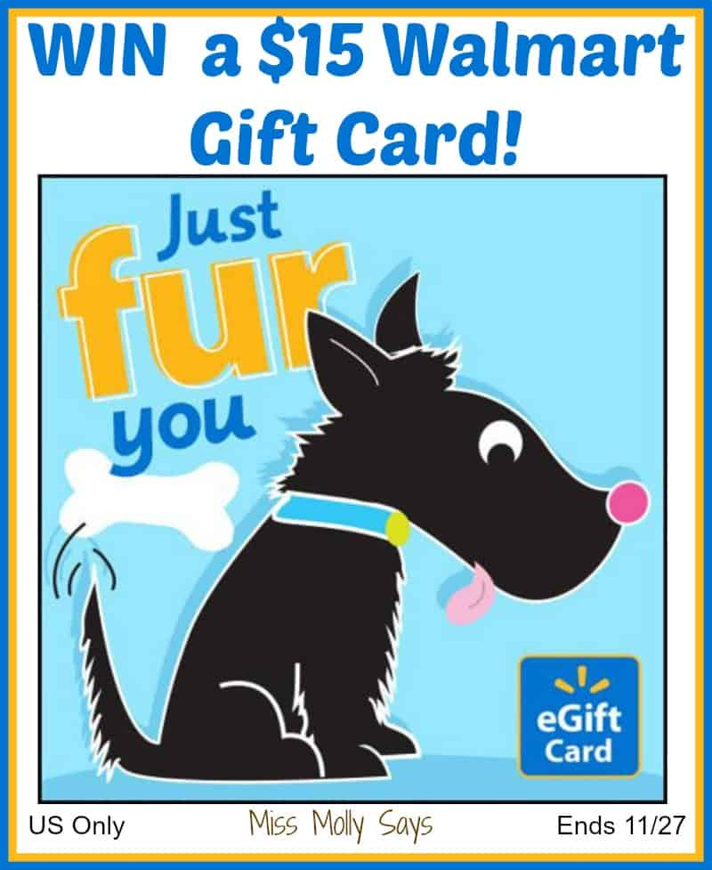 Win a $15 Walmart Gift Card! US Only Ends 11/27