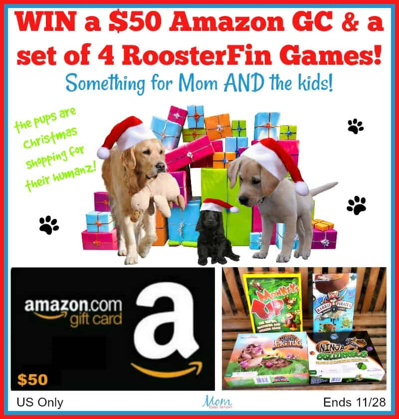 Win $50 Amazon Gift Card AND a set of RoosterFin Games! US Only Ends 11/28