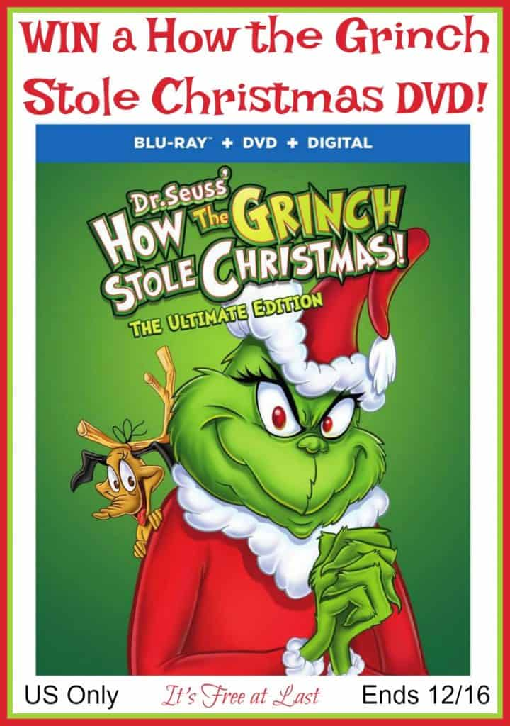 Win a How the Grinch Stole Christmas DVD! US Only Ends 12/16