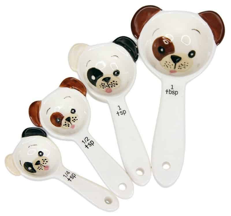Puppy Dog Ceramic Measuring Spoon Set