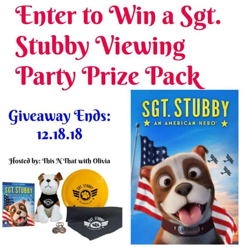 Win a Sgt. Stubby: An American Hero Prize Pack! US Only Ends 12/18