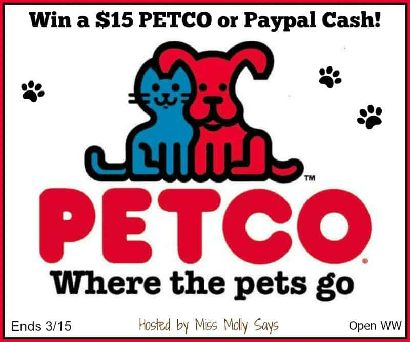 #Win a $15 PETCO or Paypal Cash in our Leaping Leprechauns Giveaway Hop!