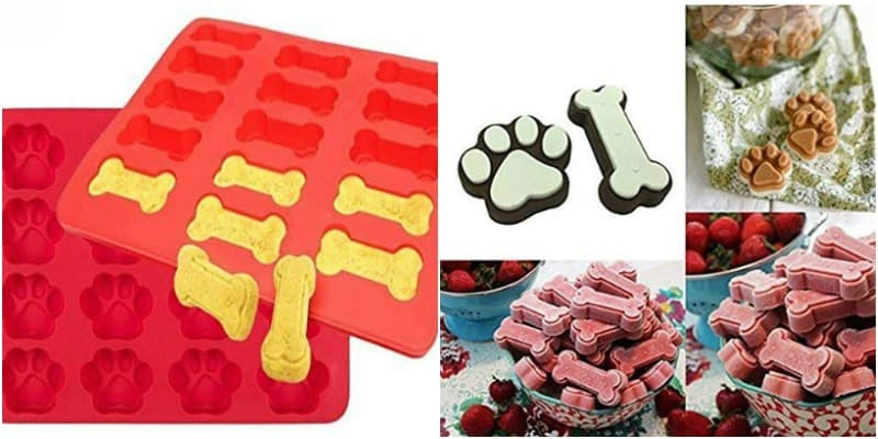 Dog Bone and Paw Print Silicone Molds