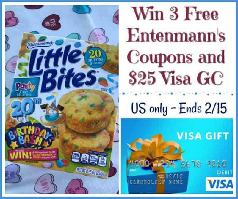 Win An Entenmanns Little Bites Prize Pack Includes A 25 Visa GC US Only Ends 2 15