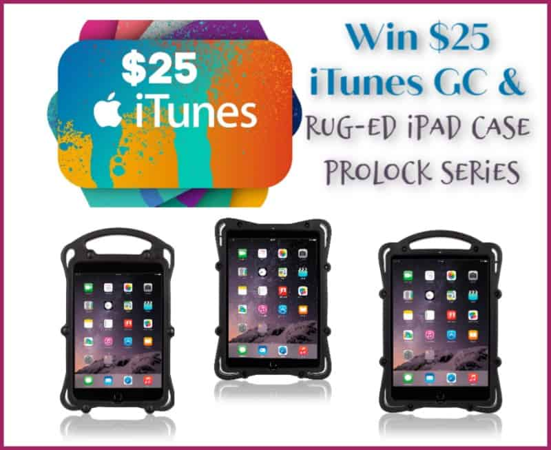 #Win $25 iTunes GC AND Rug-Ed iPad ProLOCK Series Case! #SpringFunonMDR