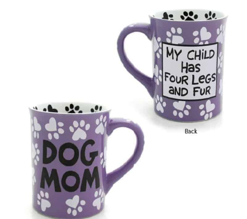 "Our Name is Mud ""Dog Mom"", 16 oz. Stoneware Mug"