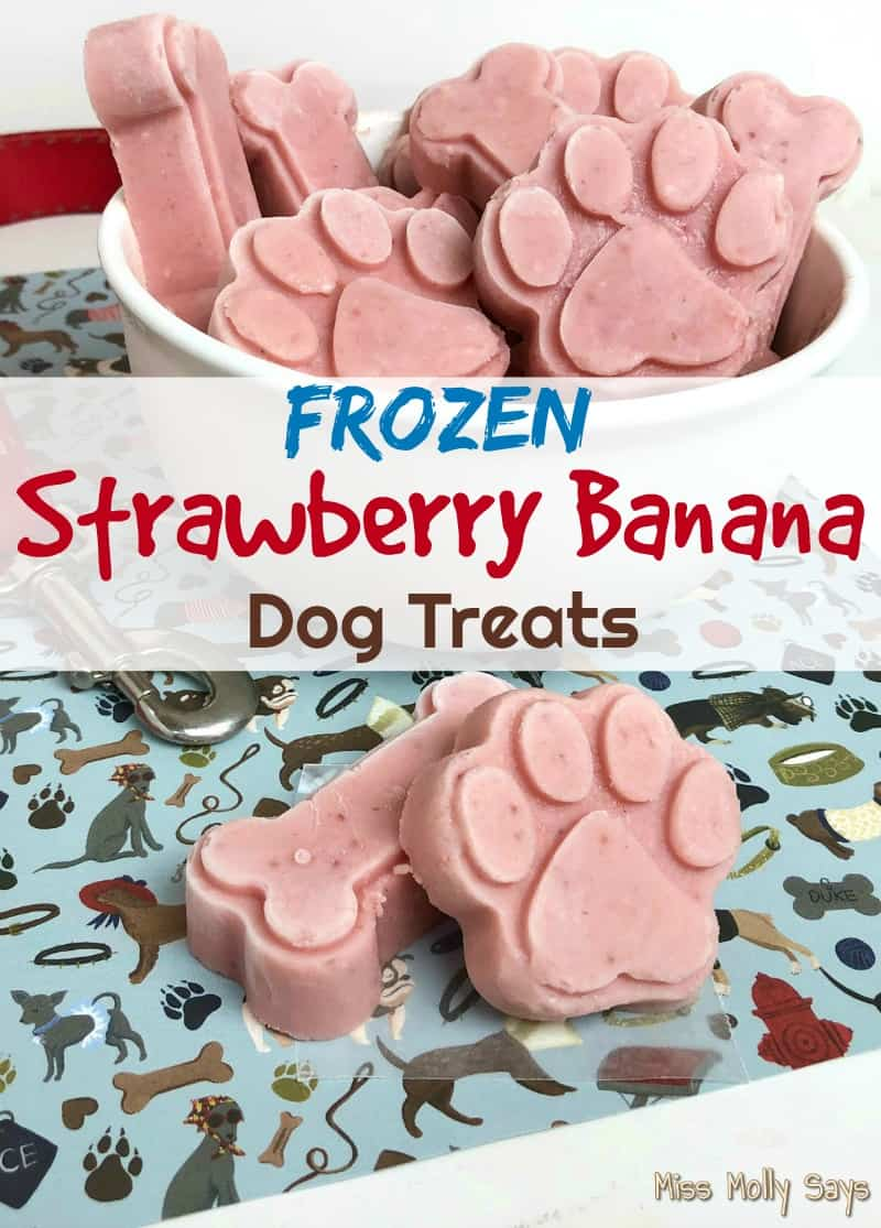 Frozen Strawberry Banana Dog Treats