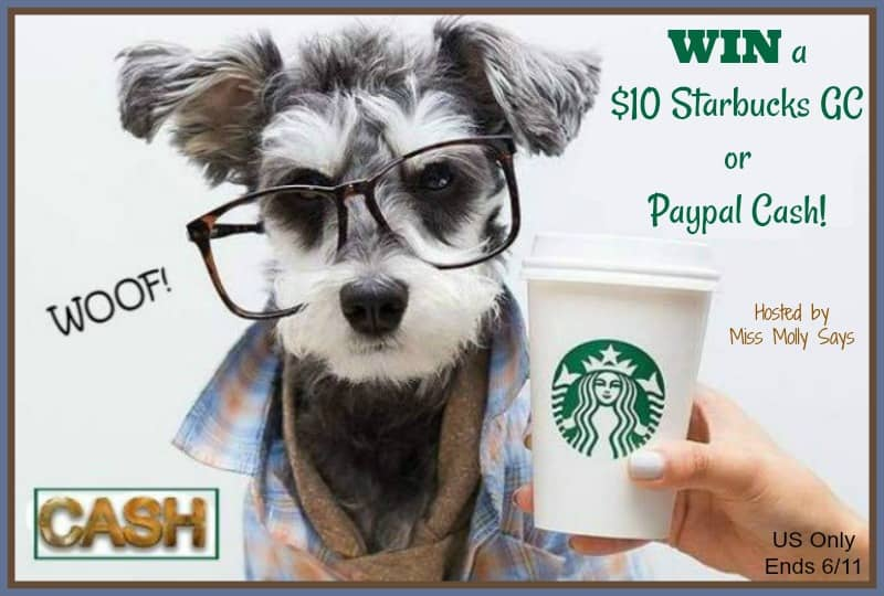 Enter for a chance to #win a $10 Starbucks Gift Card or Paypal Cash!