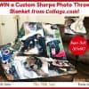 Enter for a chance to Win a Custom Sherpa Photo Throw Blanket from Collage.com!