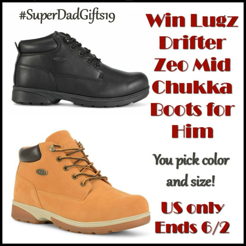 Enter for a chance to win Lugz Drifter Zeo Mid Chukka Boots for Him! #SuperDadGifts19