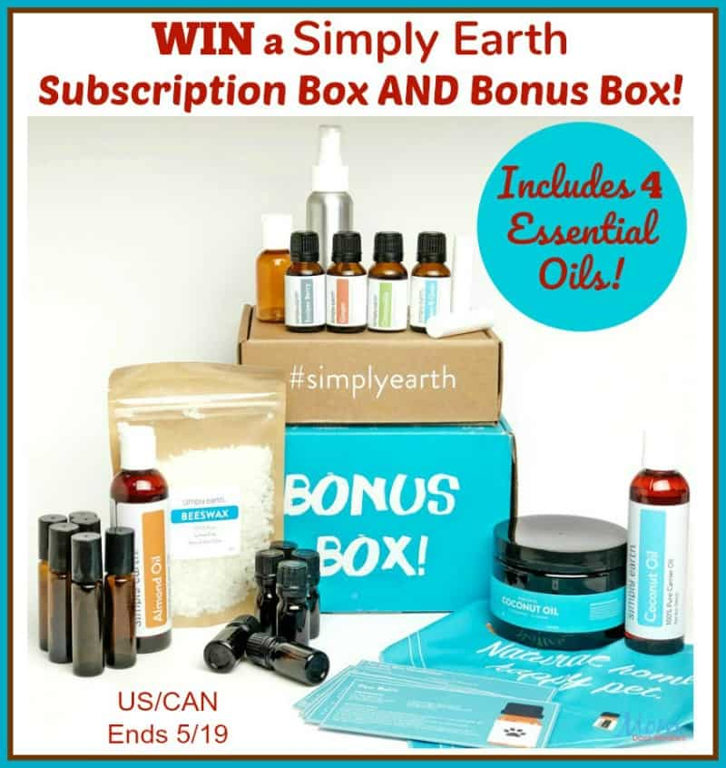 Enter for a chance to #Win a Pet-Themed Simply Earth Subscription Box AND Bonus Box!