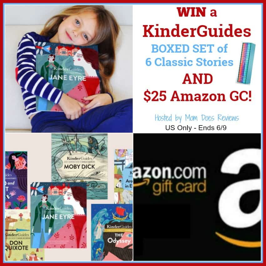 Enter for a chance to #win a $25 Amazon Gift Card & KinderGuides Boxed Set of Classic Stories!