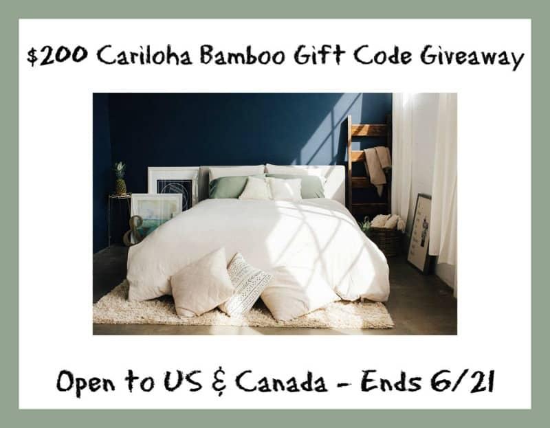 $200 Cariloha Sheets giveaway