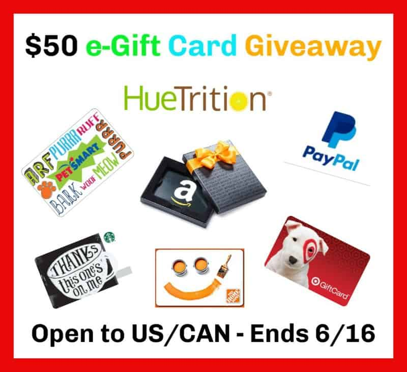Enter for a chance to #win a $50 e-Gift Card of choice!
