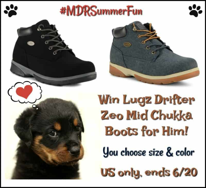 Enter for a chance to #win a pair of Lugz Men's Drifter Zeo Mid Chukka Boots in your choice of size and color!