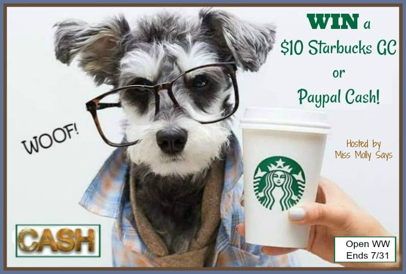 Love coffee and cash? Enter for a chance to #win a $10 Starbucks Gift Card or Paypal Cash! Winner's choice!