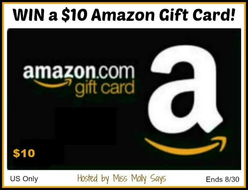 Enter for a chance to WIN a $10 Amazon Gift Card!