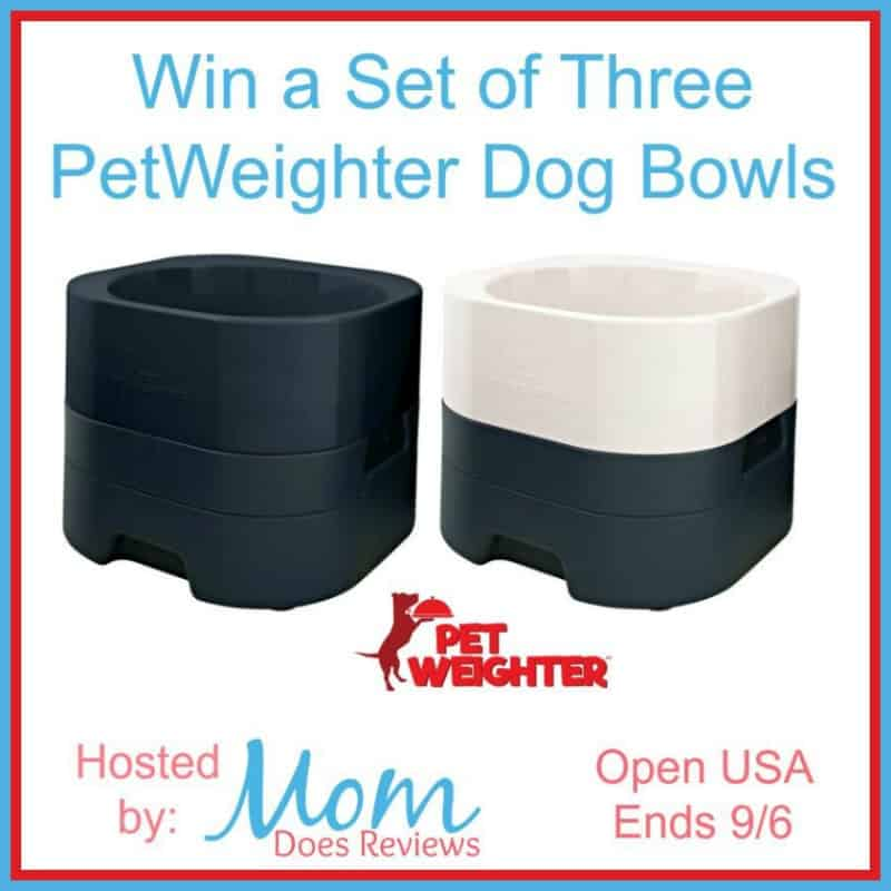 Enter for a chance to #WIN a set of 3 PetWeighter Dog Bowls!