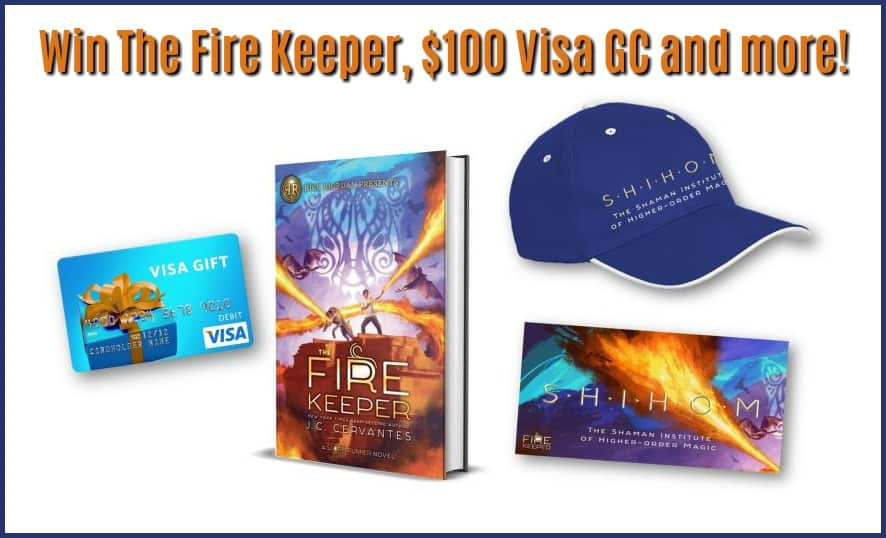 Enter for a chance to #win a $100 Visa GC & The Fire Keeper by J.C. Cervantes!