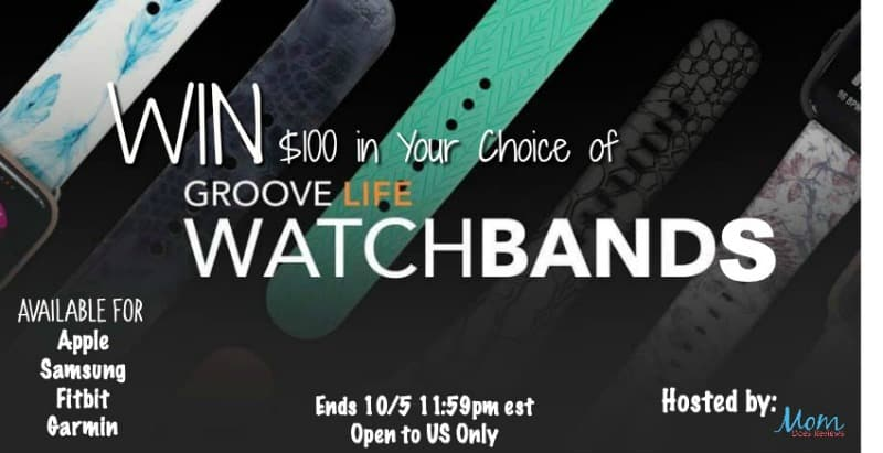 Enter for a chance to #WIN $100 in GrooveLife Watchbands of your choice!