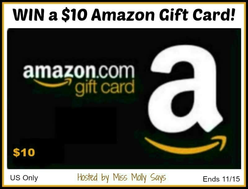 Enter for a chance to #WIN a $10 Amazon Gift Card!