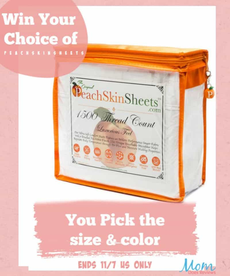 Enter for a chance to #WIN a set of PeachSkinSheets in your choice of size & color!