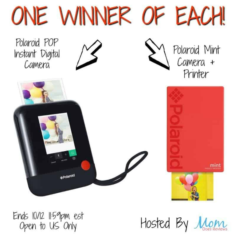 2-WINNERS!!! Enter for a chance to #win a Polaroid POP Instant Printer OR a Polaroid Mint Camera + Printer - one winner each!