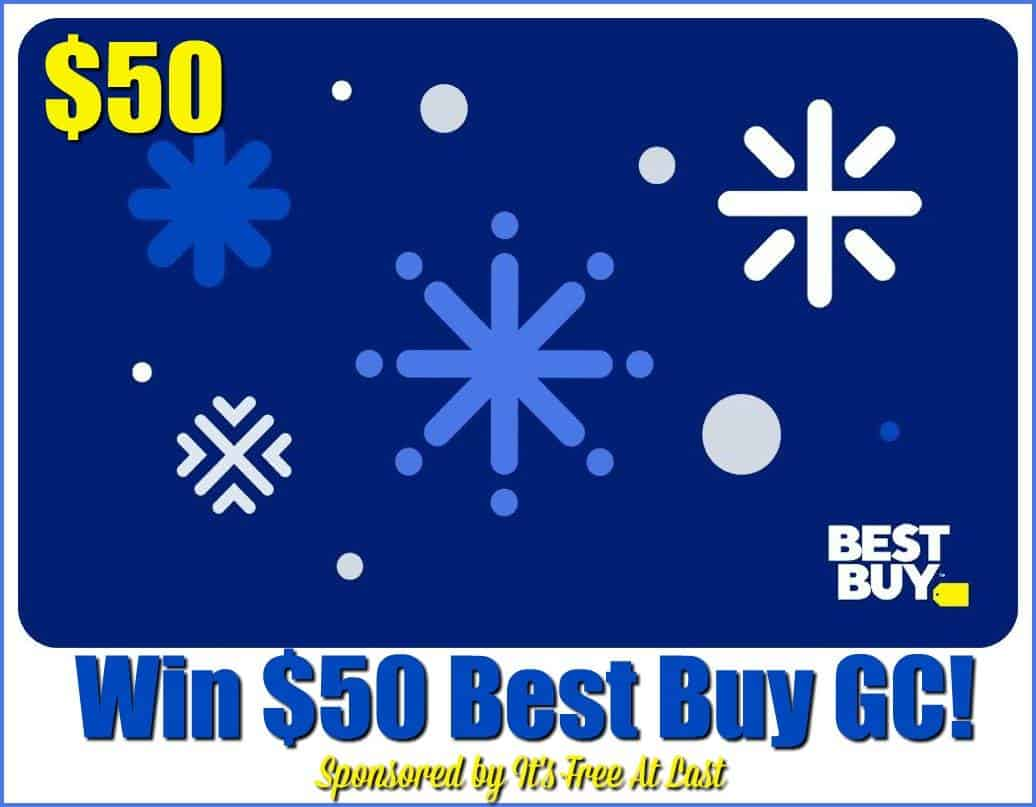 Enter for a chance to #WIN a $50 Best Buy Gift Card!