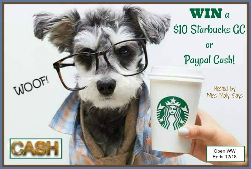 Enter for a chance ti #win a $10 Starbucks Gift Card or Paypal Cash in our 'Have Yourself a Merry Little Christmas' Giveaway Hop!