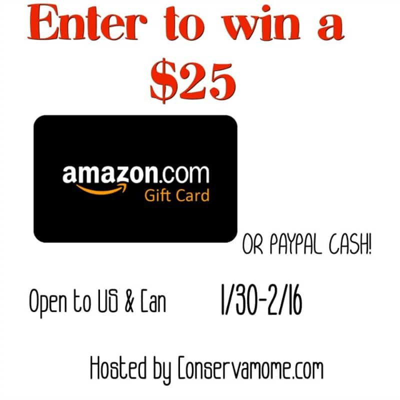 $25 Amazon Gift Card Giveaway! US/CAN Ends 2/16