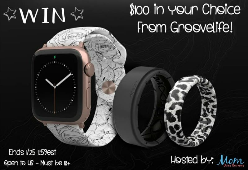 Enter for a chance to #WIN $100 in your choice of Groovelife Watch Bands! US Only Ends 1/25