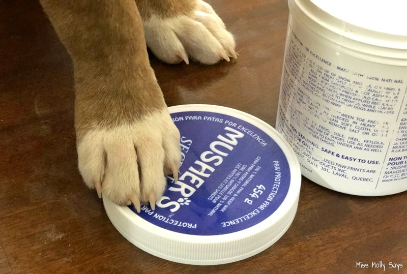 Musher's Secret Natural Dog Paw Protection Wax