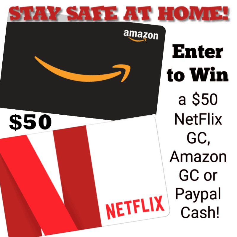Enter for a chance to #win a $50 Netflix or Amazon Gift Card!