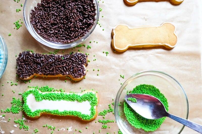 April Fools Dog Treat Cookies process
