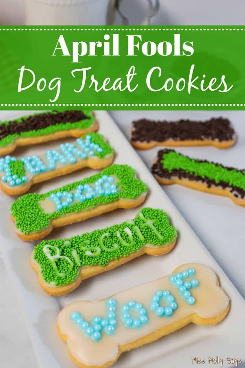 FUN April Fools Dog Treat Cookies