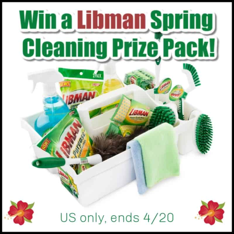 Enter for a chance to #win a HUGE Libman Spring Cleaning Prize Pack!