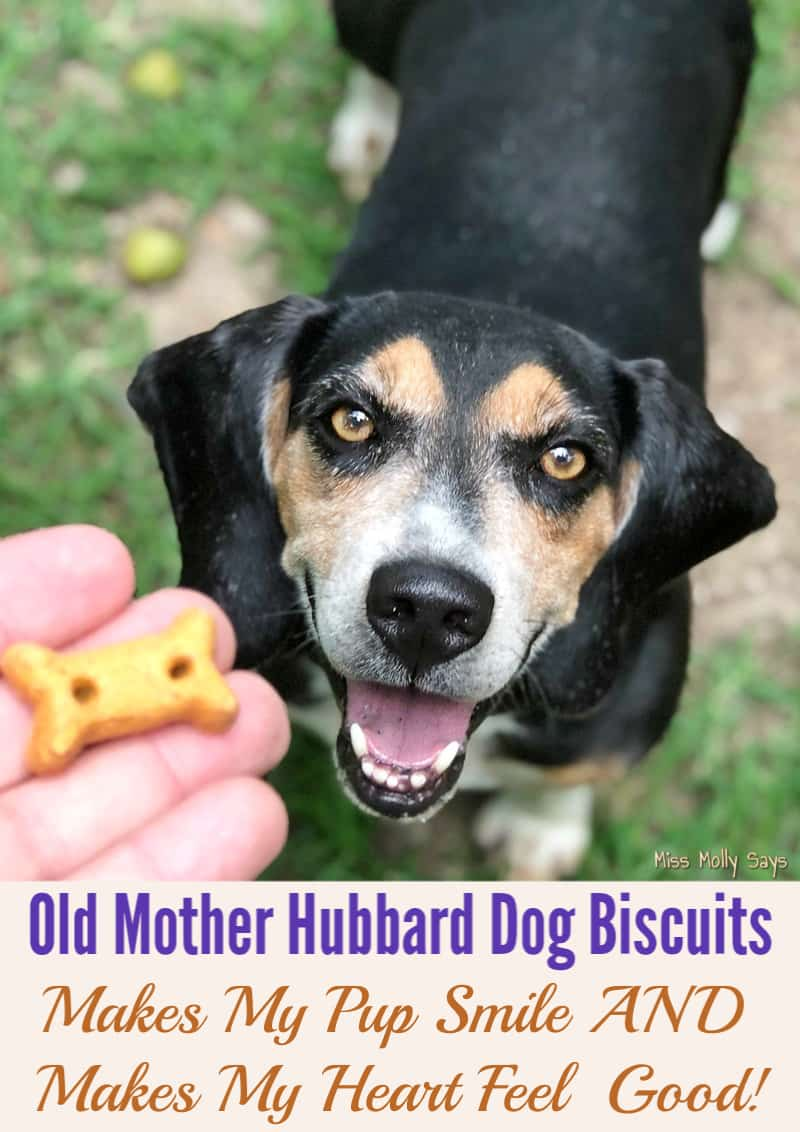 Old Mother Hubbard Dog Biscuits Makes My Pup Smile AND Makes My Heart Happy!